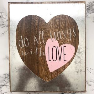 Table Top Wooden Modern Quote Wall Sign